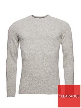 superdry-harlo-crew-neck-knit-jumper-grey