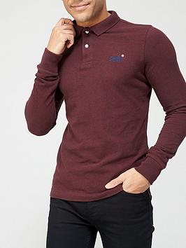 superdry-superdry-long-sleeve-classic-pique-polo-burgundy