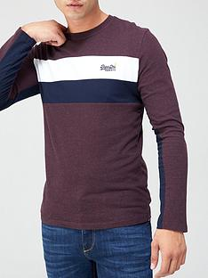 superdry-orange-label-engineered-long-sleeve-top-berry