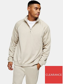 topman-piped-half-zip-sweatshirt--nbspstone