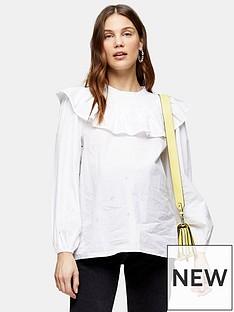 topshop-maternity-poplin-yoke-pintuck-blouse-white