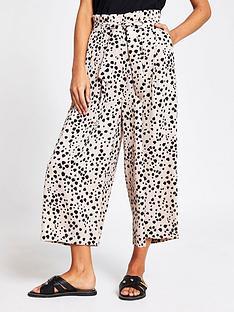 river-island-eyelet-tie-crop-wide-leg-trouser-beige-print