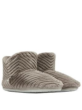joules-cabin-luxe-slipper-boot-grey