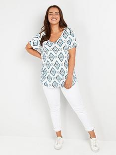 evans-navy-batik-short-sleeve-tshirt