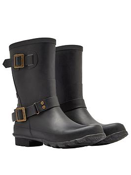 joules mid biker boot - black