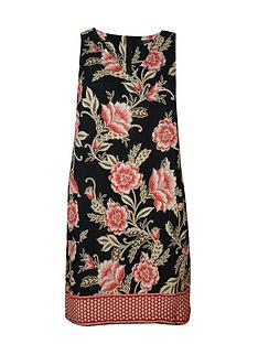 evans-black-floral-shift-dress