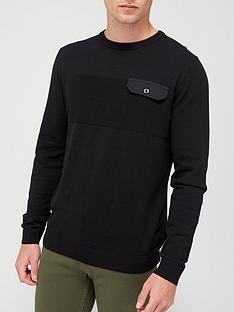jack-jones-pocket-crew-neck-jumper-black