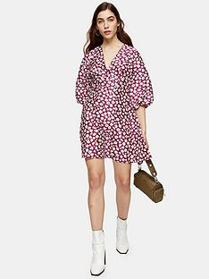 topshop-petite-daisy-puff-mini-dress-multi