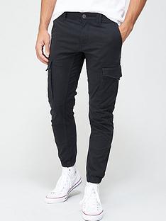 jack-jones-paul-skinny-fit-cuffed-cargo-trousers-black