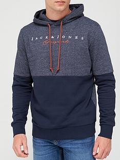 jack-jones-trailer-colour-block-overhead-hoodie-navy