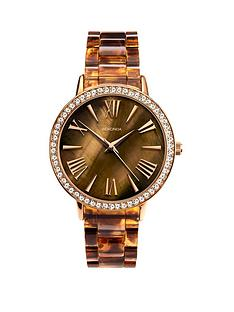sekonda-sekonda-brown-mother-of-pearl-crystal-set-dial-tortoise-shell-bracelet-ladies-watch