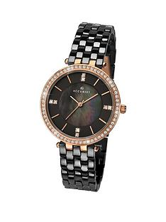 accurist-accurist-black-mother-of-pearl-and-diamond-dial-with-crystal-set-rose-gold-bezel-and-black-ceramic-bracelet-ladies-watch