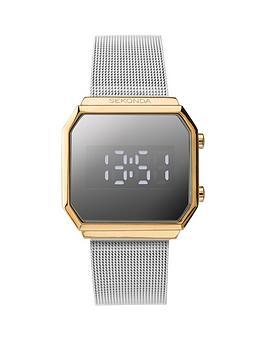 sekonda-sekonda-silver-and-gold-detail-digital-dial-stainless-steel-mesh-strap-watch