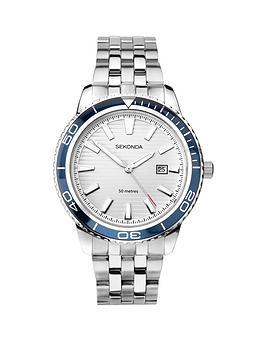 sekonda-sekonda-silver-and-blue-bezel-date-dial-stainless-steel-bracelet-mens-watch