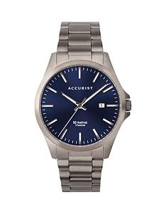 accurist-accurist-blue-sunray-date-dial-gunmetal-grey-titanium-bracelet-mens-watch