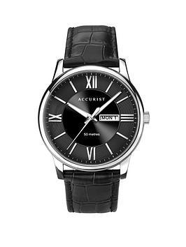 accurist-accurist-black-sunray-daydate-dial-black-leather-strap-mens-watch