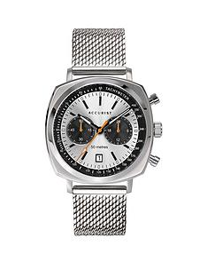 accurist-accurist-retro-silver-and-black-detail-square-bezel-multi-dial-stainless-steel-mesh-strap-mens-watch