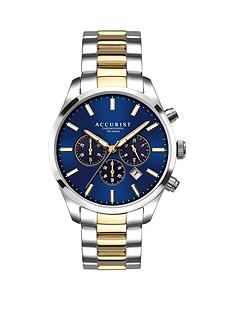 accurist-accurist-blue-sunray-and-gold-detail-chronograph-dial-two-tone-stainless-steel-bracelet-mens-watch