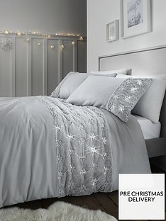 catherine-lansfield-snowflake-fleece-panel-duvet-cover-set