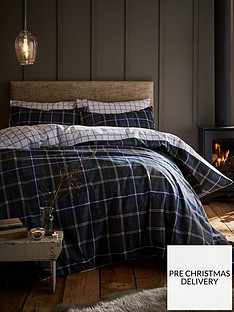 catherine-lansfield-tartan-100-brushed-cottonnbspduvet-cover-set