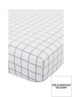 catherine-lansfield-tartan-check-100-brushed-cottonnbspfitted-sheet