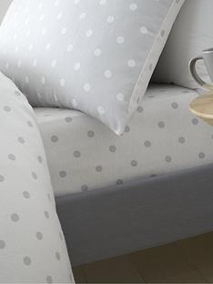 catherine-lansfield-brushed-cotton-spot-fitted-sheet