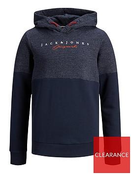 jack-jones-junior-boys-colourblock-logo-hoodie-navy