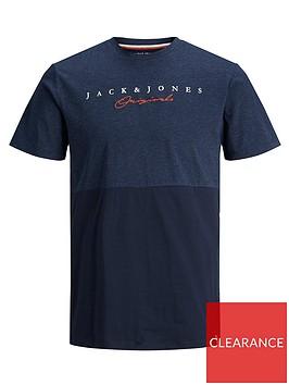 jack-jones-junior-boys-short-sleeve-colourblock-t-shirt-navy