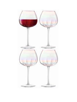 lsa-international-pearl-hand-crafted-rednbspwine-glasses-ndash-set-of-4
