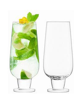 lsa-international-rum-handmade-mixer-glasses-ndash-set-of-2