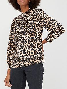 v-by-very-printed-tie-neck-blouse-animal-print