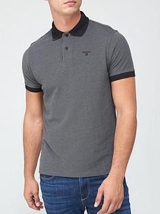 barbour-sports-polo-with-contrast-collar-black