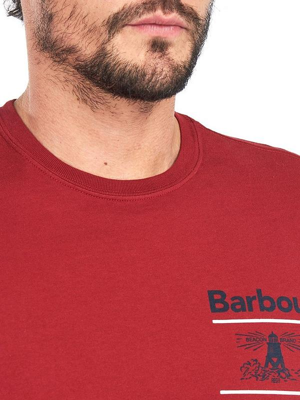 Barbour Reed T Shirt Red Very Co Uk