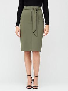 v-by-very-tie-waist-midi-skirt-khaki