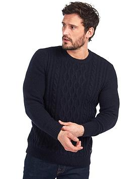 barbour-chunky-cable-crew-jumper-navy
