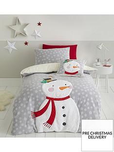 catherine-lansfield-cosy-snowman-fleecenbspduvet-covernbspset