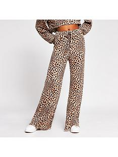 river-island-animal-print-lounge-trouser-brown
