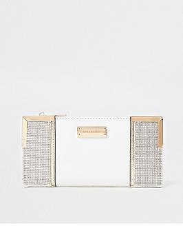 river-island-heatseal-metal-corner-purse-white