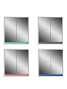 lloyd-pascal-olindanbspdouble-door-mirrored-bathroomnbspcabinet-with-reversible-4-in-1-colour-bar