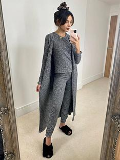 michelle-keegan-ribbed-longline-cardigan-grey-marl