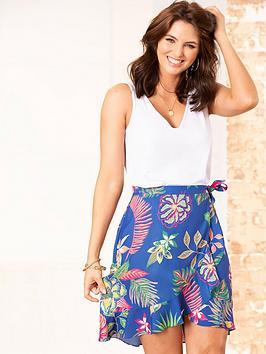 pour-moi-frill-detail-woven-wrap-skirt-cobalt-floral