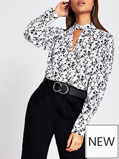 river-island-printed-twist-neck-blouse-white