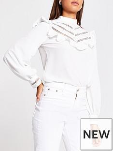 river-island-ruffle-panel-blouse-white