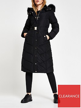 river-island-longline-belted-padded-coat-black