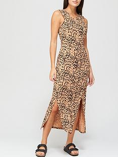 whistles-animal-printed-jersey-dress