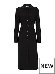 whistles-jersey-premium-belted-dress-black