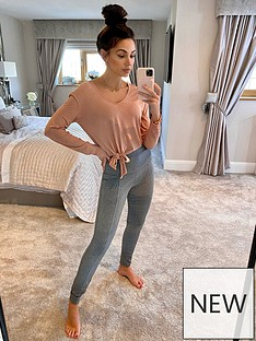 michelle-keegan-high-waist-seamed-leggings-charcoal
