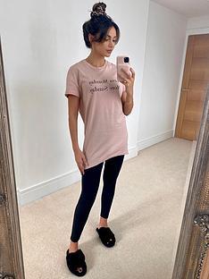 michelle-keegan-longline-tee-amp-legging-pyjama-set-creamblack