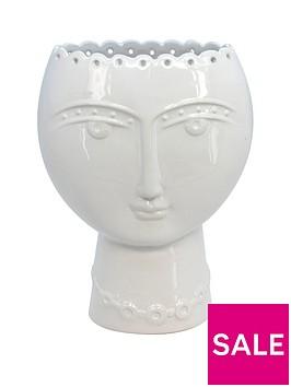 gisela-graham-ceramic-lady-vase