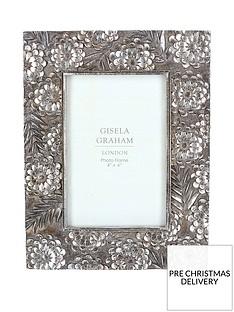 gisela-graham-pewter-floral-frame